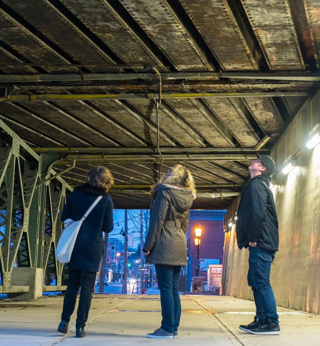 Operation Railbridge - team meeting on site
