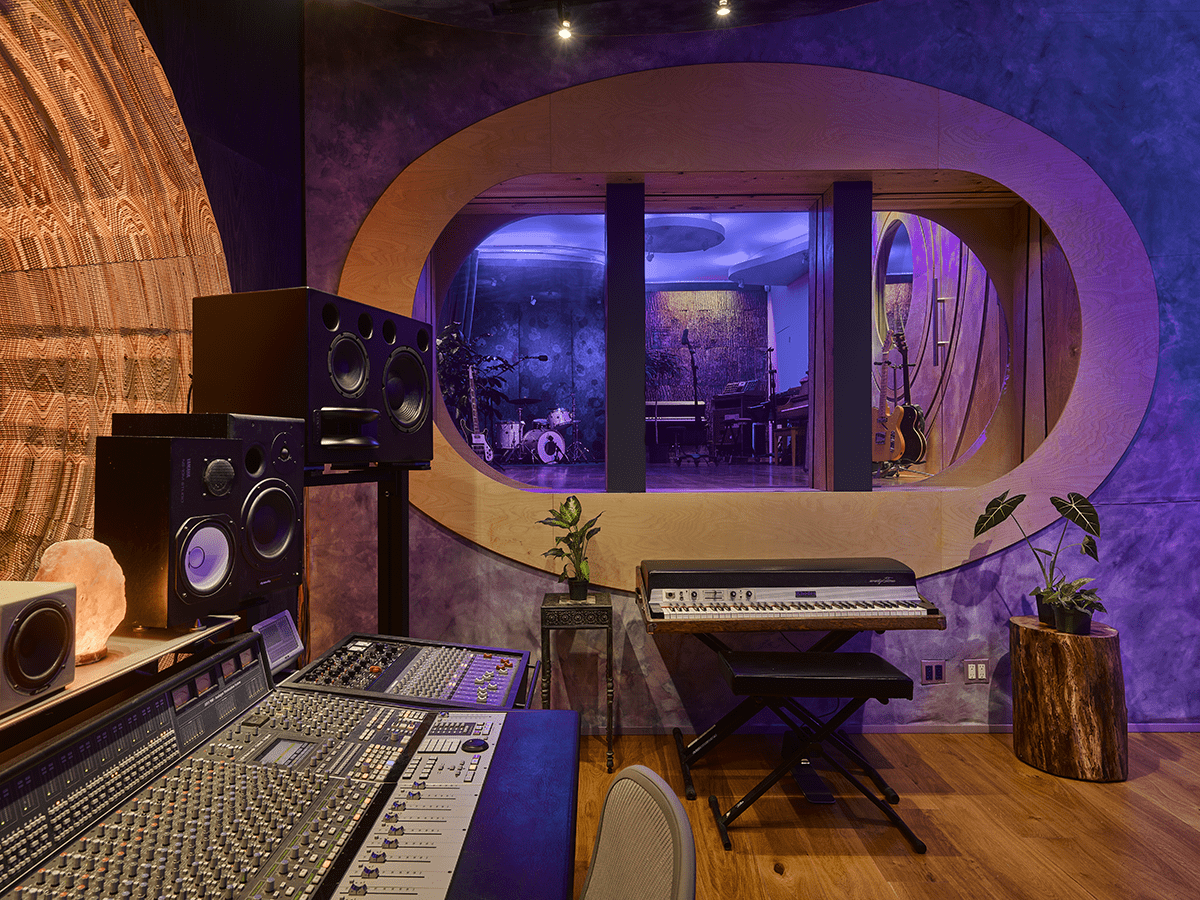 Dwaal - Electric Garden Studio - view into Live Room