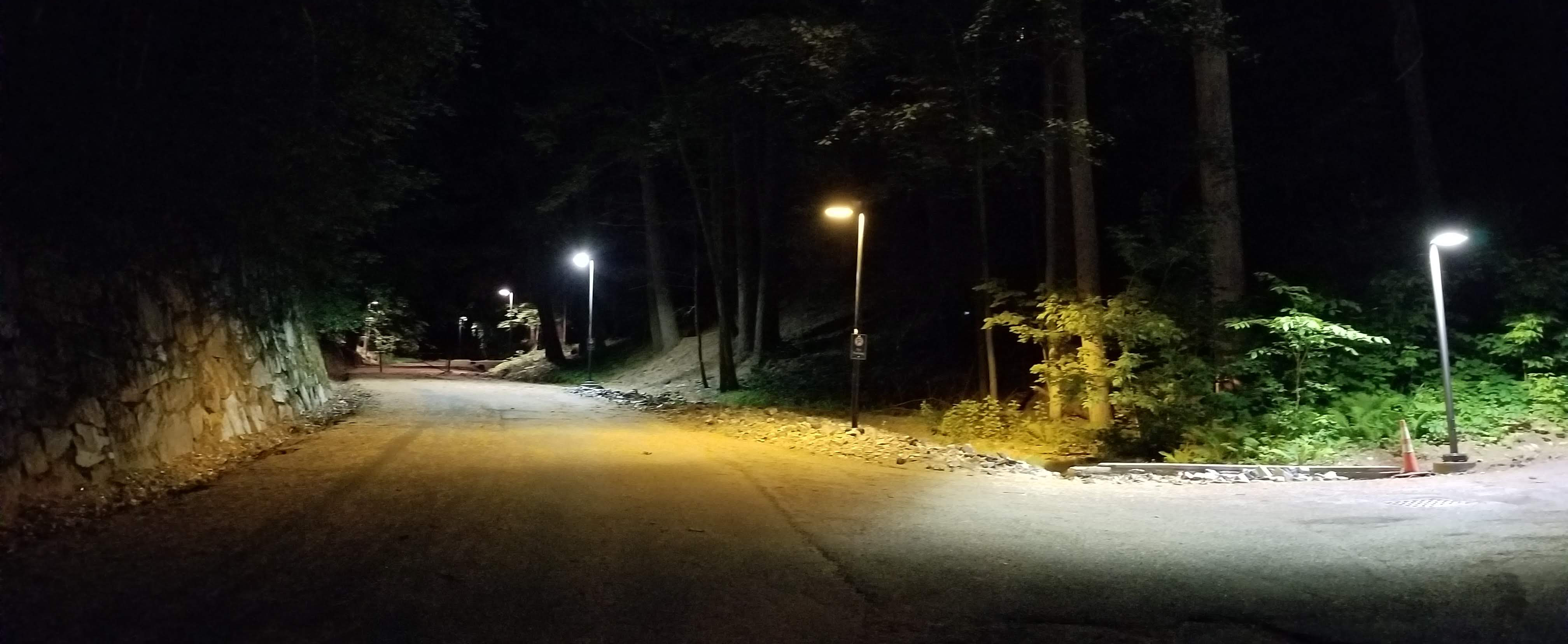 Existing pathway lighting