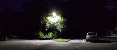 Existing parking lot lighting